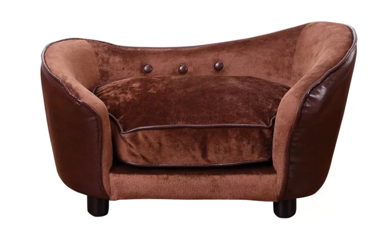 Pawhut Luxury Dog Sofa in Coffee