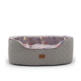 joules-slumber-oval-pet-bed-grey