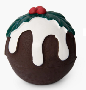 Fred & Ginger Christmas pudding dog toy